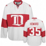 Reebok Detroit Red Wings 35 Men's Jimmy Howard White Authentic Third NHL Jersey