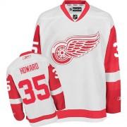 Reebok Detroit Red Wings 35 Men's Jimmy Howard White Premier Away NHL Jersey