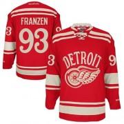 Reebok Detroit Red Wings 93 Men's Johan Franzen Red Authentic 2014 Winter Classic NHL Jersey