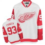 Reebok Detroit Red Wings 93 Men's Johan Franzen White Authentic Away NHL Jersey