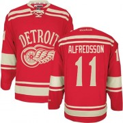Reebok Detroit Red Wings 11 Men's Daniel Alfredsson Red Authentic 2014 Winter Classic NHL Jersey