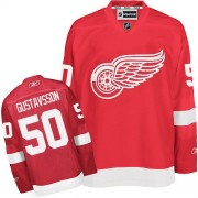 Reebok Detroit Red Wings 50 Men's Jonas Gustavsson Red Authentic Home NHL Jersey