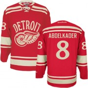 Reebok Detroit Red Wings 8 Men's Justin Abdelkader Red Authentic 2014 Winter Classic NHL Jersey