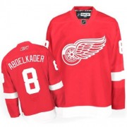Reebok Detroit Red Wings 8 Men's Justin Abdelkader Red Authentic Home NHL Jersey