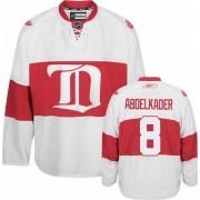Reebok Detroit Red Wings 8 Men's Justin Abdelkader White Authentic Third NHL Jersey