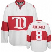 Reebok Detroit Red Wings 8 Men's Justin Abdelkader White Premier Third NHL Jersey