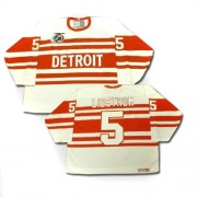 CCM Detroit Red Wings 5 Men's Nicklas Lidstrom White Authentic Throwback NHL Jersey
