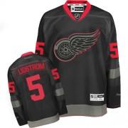 Reebok Detroit Red Wings 5 Men's Nicklas Lidstrom Black Ice Premier NHL Jersey