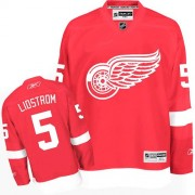 Reebok Detroit Red Wings 5 Men's Nicklas Lidstrom Red Authentic Home NHL Jersey
