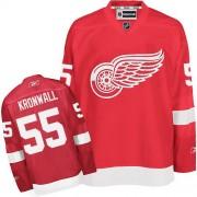 Reebok Detroit Red Wings 55 Men's Niklas Kronwall Red Authentic Home NHL Jersey