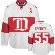 Reebok Detroit Red Wings 55 Men's Niklas Kronwall White Authentic Third NHL Jersey