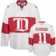 Reebok Detroit Red Wings 11 Men's Daniel Alfredsson White Authentic Third NHL Jersey