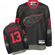 Reebok Detroit Red Wings 13 Men's Pavel Datsyuk Black Ice Premier NHL Jersey