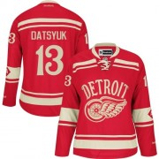 Reebok Detroit Red Wings 13 Womne's Pavel Datsyuk Red Women's Authentic 2014 Winter Classic NHL Jersey