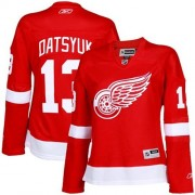 Reebok Detroit Red Wings 13 Womne's Pavel Datsyuk Red Women's Authentic Home NHL Jersey