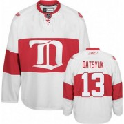 Reebok Detroit Red Wings 13 Womne's Pavel Datsyuk White Women's Premier Third NHL Jersey