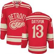 Reebok Detroit Red Wings 13 Youth Pavel Datsyuk Red Premier 2014 Winter Classic NHL Jersey