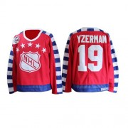 CCM Detroit Red Wings 19 Men's Steve Yzerman Red Authentic 75TH All Star Throwback NHL Jersey