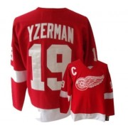 CCM Detroit Red Wings 19 Men's Steve Yzerman Red Authentic Throwback NHL Jersey