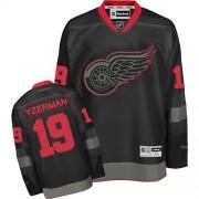 Reebok Detroit Red Wings 19 Men's Steve Yzerman Black Ice Authentic NHL Jersey
