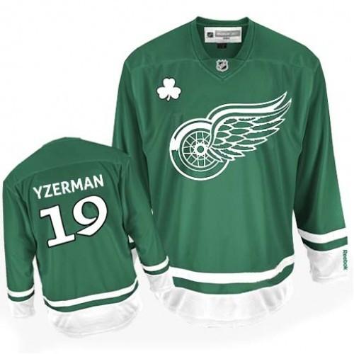 735712106 Steve Yzerman Green Premier St Patty s Day Jersey - Red Wings Shop