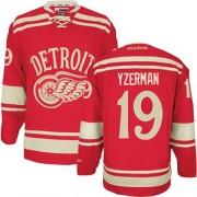 Reebok Detroit Red Wings 19 Men's Steve Yzerman Red Authentic 2014 Winter Classic NHL Jersey