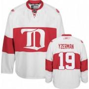 Reebok Detroit Red Wings 19 Men's Steve Yzerman White Premier Third NHL Jersey