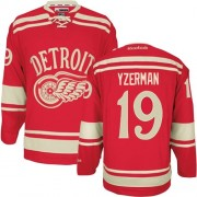 Reebok Detroit Red Wings 19 Youth Steve Yzerman Red Authentic 2014 Winter Classic NHL Jersey
