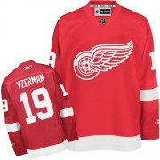 Reebok Detroit Red Wings 19 Youth Steve Yzerman Red Authentic Home NHL Jersey