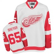 Reebok Detroit Red Wings 65 Men's Danny DeKeyser White Authentic Away NHL Jersey