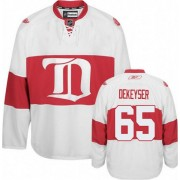 Reebok Detroit Red Wings 65 Men's Danny DeKeyser White Authentic Third NHL Jersey