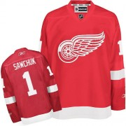 Reebok Detroit Red Wings 1 Men's Terry Sawchuk Red Authentic Home NHL Jersey