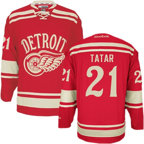 finest selection d2a8b 9c4d6 Reebok Detroit Red Wings 21 Men's Tomas Tatar Red Authentic 2014 Winter  Classic NHL Jersey