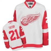 Reebok Detroit Red Wings 21 Men's Tomas Tatar White Premier Away NHL Jersey