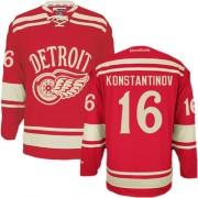 Reebok Detroit Red Wings 16 Men's Vladimir Konstantinov Red Authentic 2014 Winter Classic NHL Jersey
