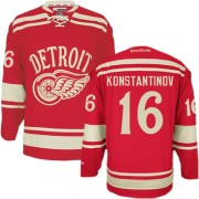 Reebok Detroit Red Wings 16 Men's Vladimir Konstantinov Red Premier 2014 Winter Classic NHL Jersey