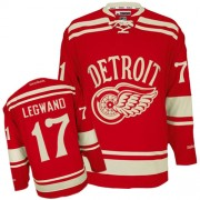 Reebok Detroit Red Wings 17 Men's David Legwand Red Authentic 2014 Winter Classic NHL Jersey