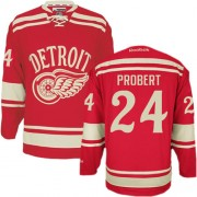 Reebok Detroit Red Wings 24 Men's Bob Probert Red Authentic 2014 Winter Classic NHL Jersey