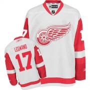 Reebok Detroit Red Wings 17 Men's David Legwand White Premier Away NHL Jersey