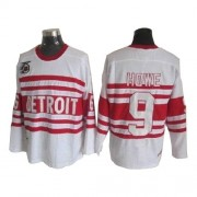 CCM Detroit Red Wings 9 Men's Gordie Howe White Authentic Throwback NHL Jersey