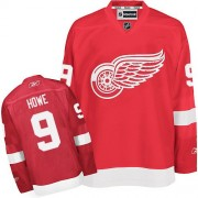 Reebok Detroit Red Wings 9 Men's Gordie Howe Red Authentic Home NHL Jersey
