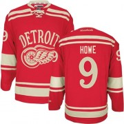Reebok Detroit Red Wings 9 Men's Gordie Howe Red Premier 2014 Winter Classic NHL Jersey