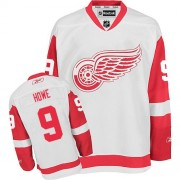 Reebok Detroit Red Wings 9 Men's Gordie Howe White Authentic Away NHL Jersey