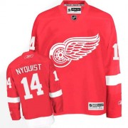 Reebok Detroit Red Wings 14 Men's Gustav Nyquist Red Authentic Home NHL Jersey