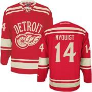 Reebok Detroit Red Wings 14 Men's Gustav Nyquist Red Premier 2014 Winter Classic NHL Jersey