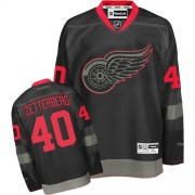 Reebok Detroit Red Wings 40 Men's Henrik Zetterberg Black Ice Premier NHL Jersey