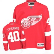 Reebok Detroit Red Wings 40 Men's Henrik Zetterberg Red Authentic Home NHL Jersey