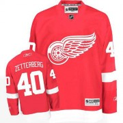 Reebok Detroit Red Wings 40 Men's Henrik Zetterberg Red Premier Home NHL Jersey