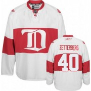 Reebok Detroit Red Wings 40 Men's Henrik Zetterberg White Authentic Third NHL Jersey