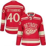 Reebok Detroit Red Wings 40 Womne's Henrik Zetterberg Red Women's Authentic 2014 Winter Classic NHL Jersey